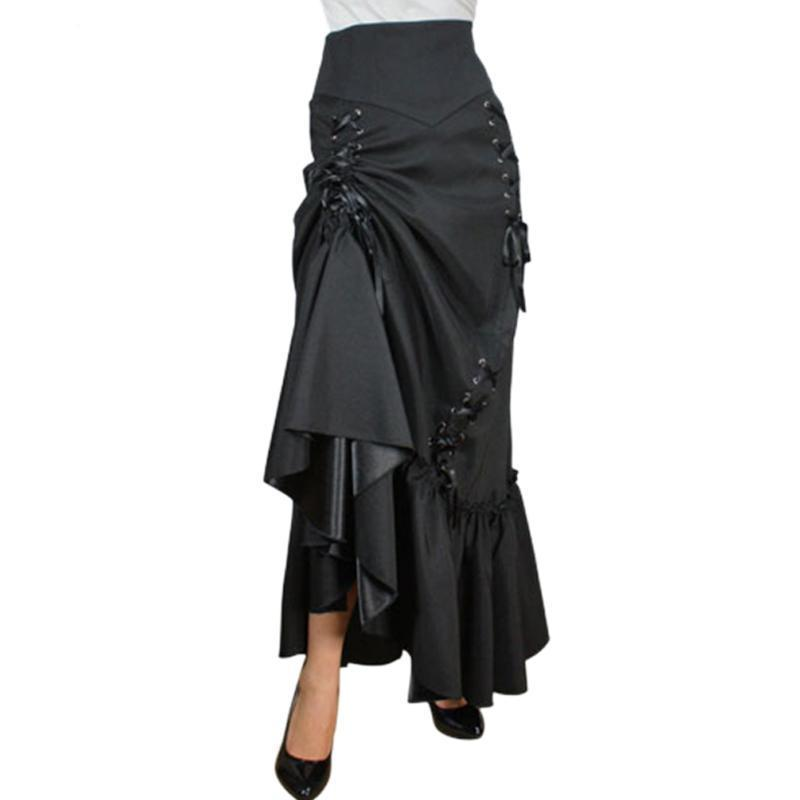 Traditional Sexy Black Trumpet Skirt - The Black Ravens