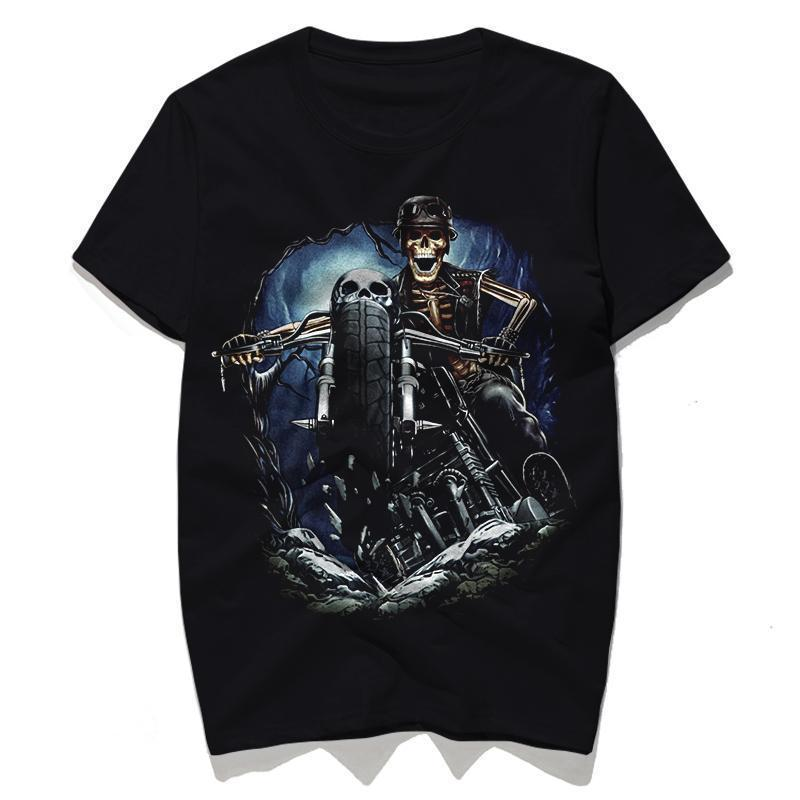 Undead Rider Print T-Shirts - The Black Ravens