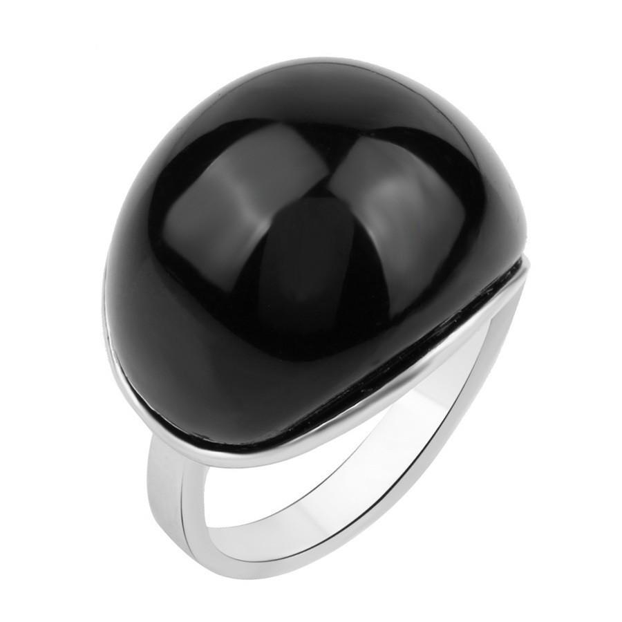 Unique Real Cubic Zirconia Shining Rings-7-Black-Silver Plated