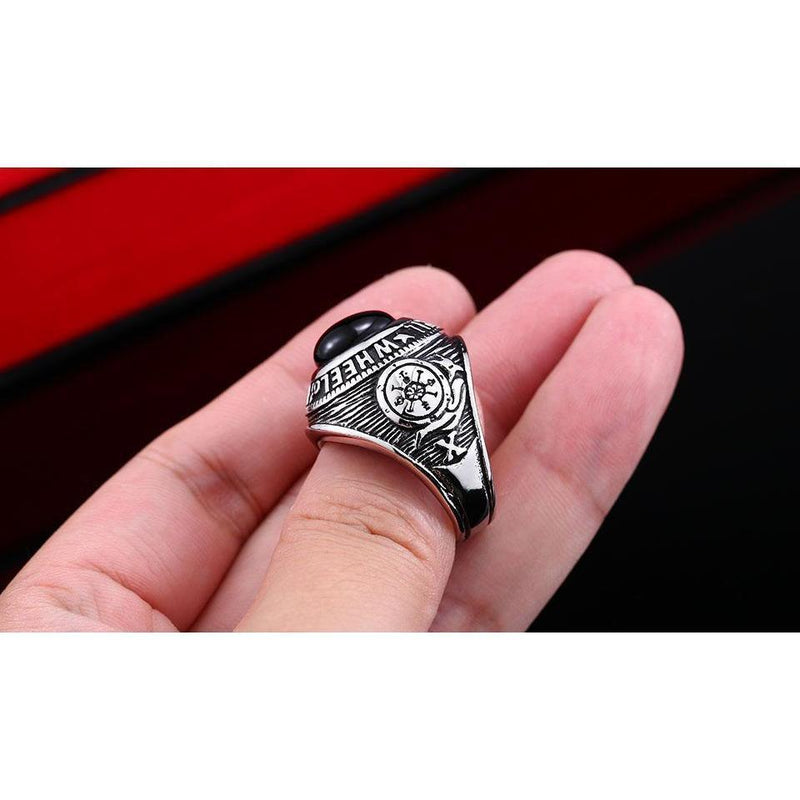 Unique Wheel Of Fortune Tarot Rings - The Black Ravens