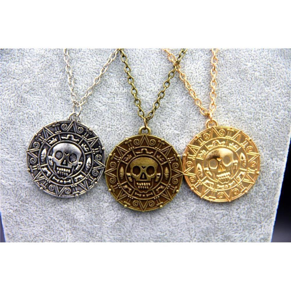 Unisex Aztec Coin Pendants - The Black Ravens