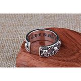 Unisex Real Silver Alternative Skull And Skeletons Ring-Resizable-Male-
