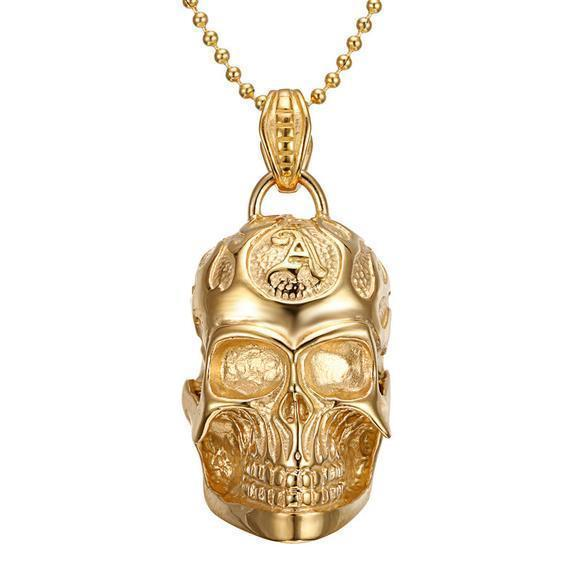 Stunning Bohemian Hippie Style Necklace With Skulls