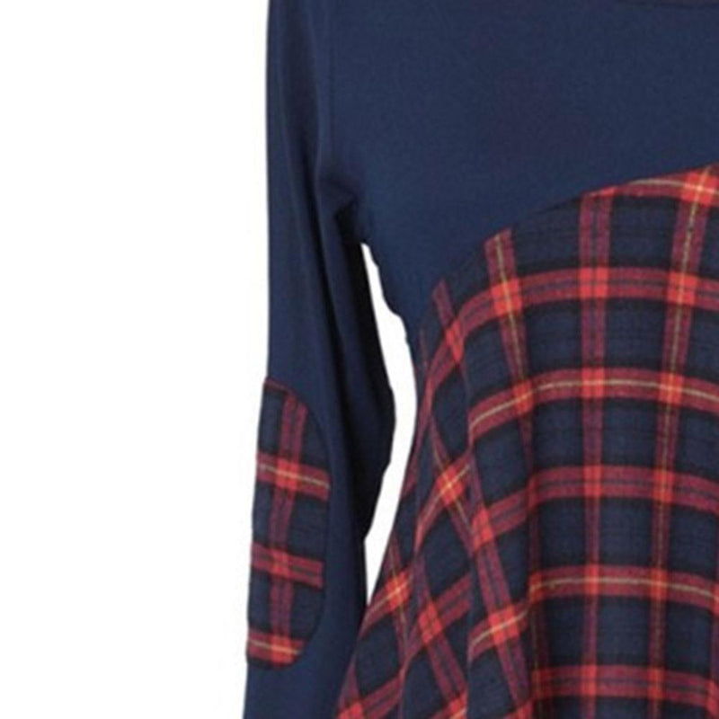 Vintage Blue Tartan Ladies' Top - The Black Ravens