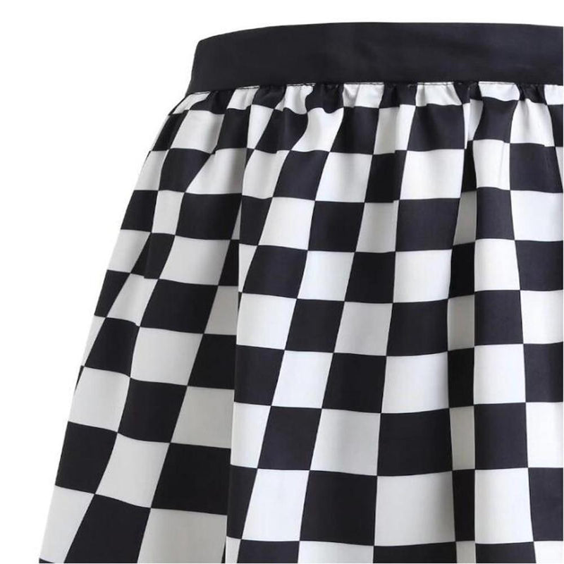Vintage Checkerboard Ladies' Plaid Skirt - The Black Ravens