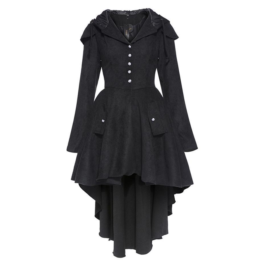 Vintage Victorian Style Black Coat - The Black Ravens