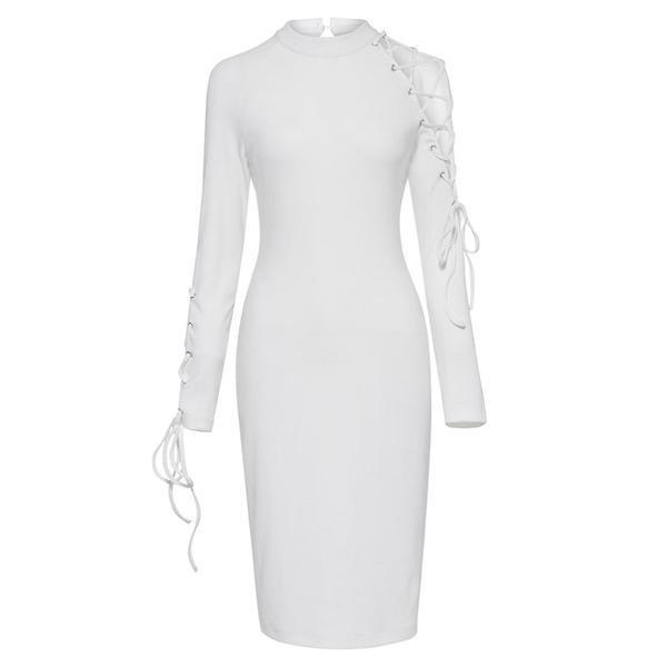 White Fashion Ladies' Party Bodycon-M-