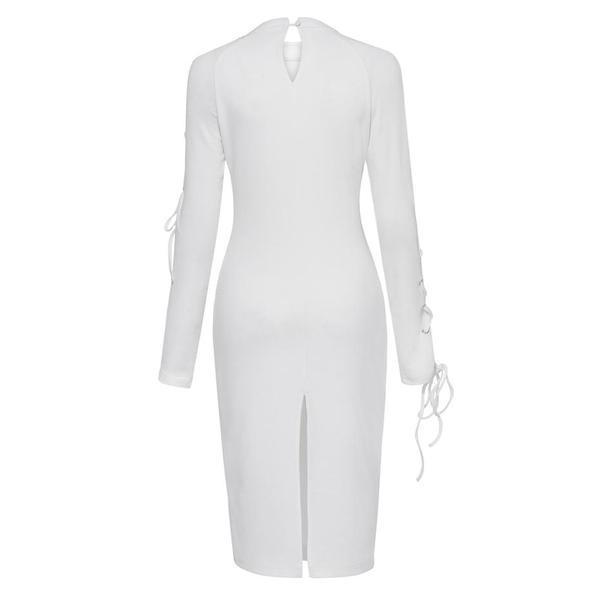 White Fashion Ladies' Party Bodycon-S-