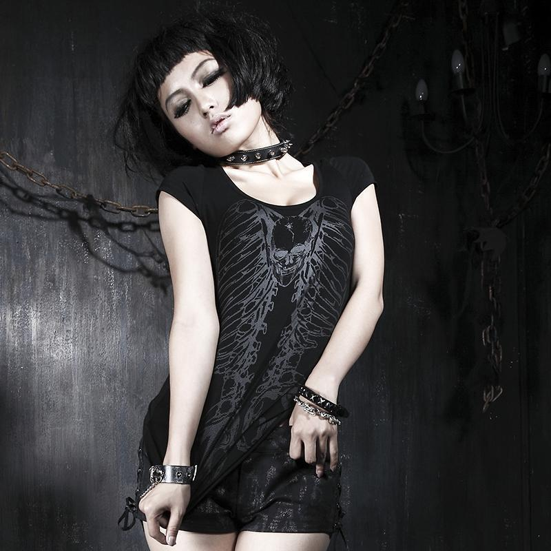 Wild Girl's Gothic Torn Tee - The Black Ravens