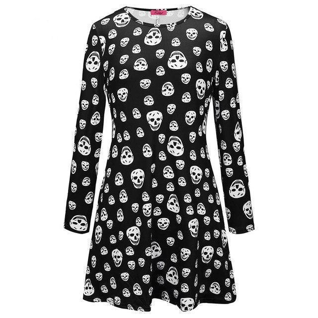 Witches' Gothic Pumpkin Halloween Dress - The Black Ravens