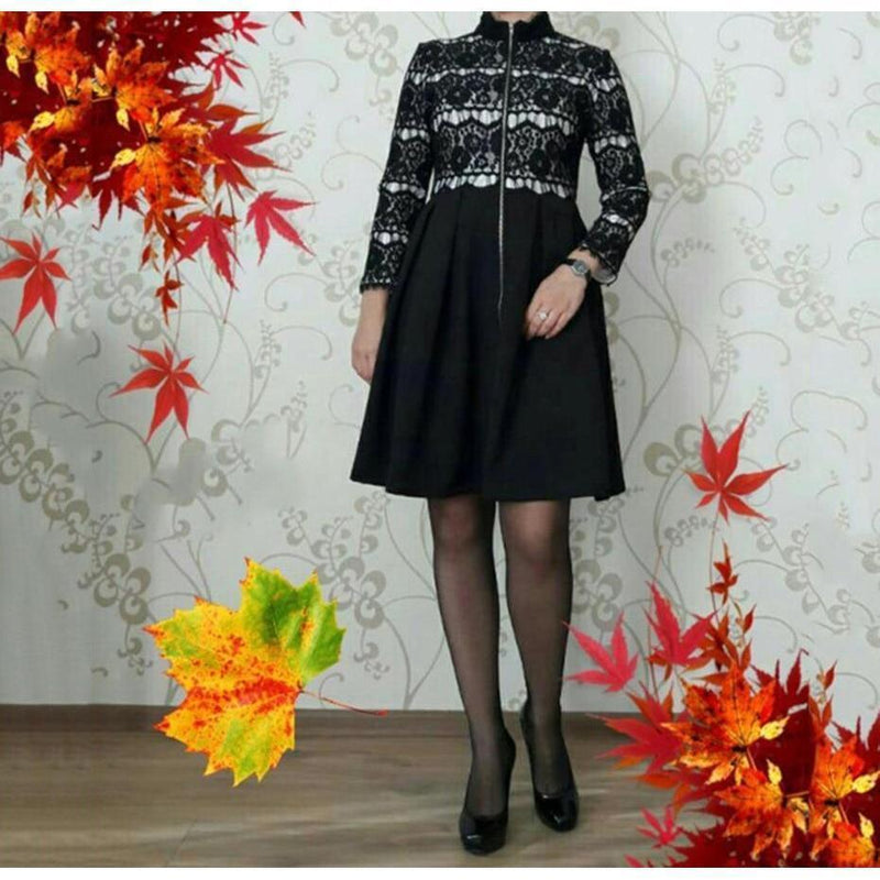 Women' Palace Retro Full Sleeve Dress - The Black Ravens