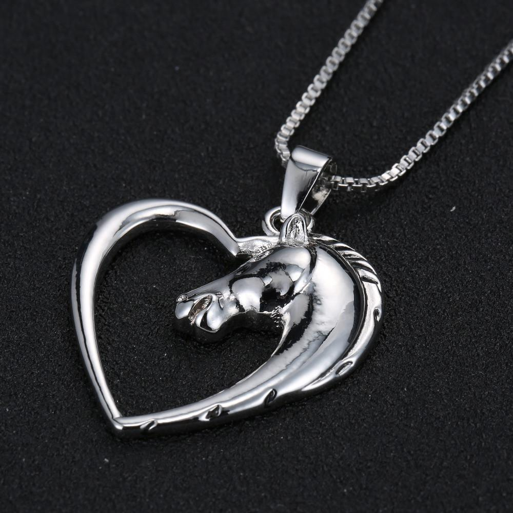 Women's Adorable Love-Heart Pendants - The Black Ravens