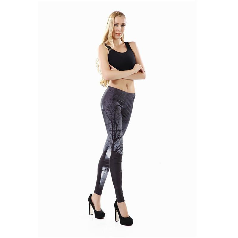 Women's Black Woods Leggings - The Black Ravens
