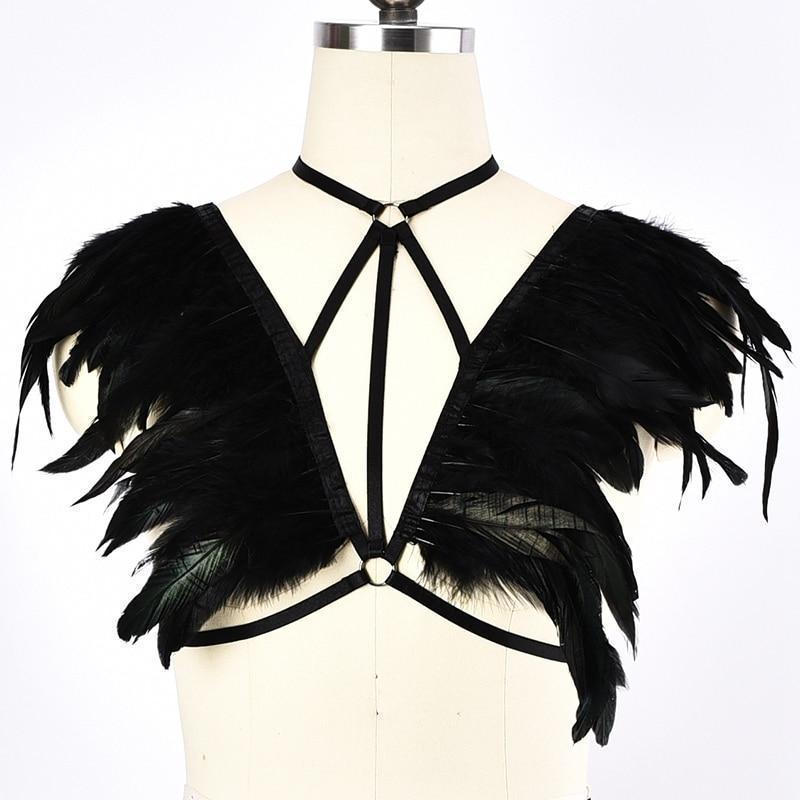 Women's Choker Chest Cage - The Black Ravens