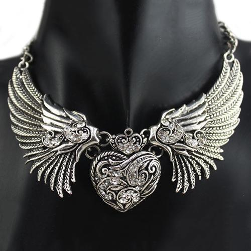 Women's Cute Angelic Chokers-Silver-From UK-