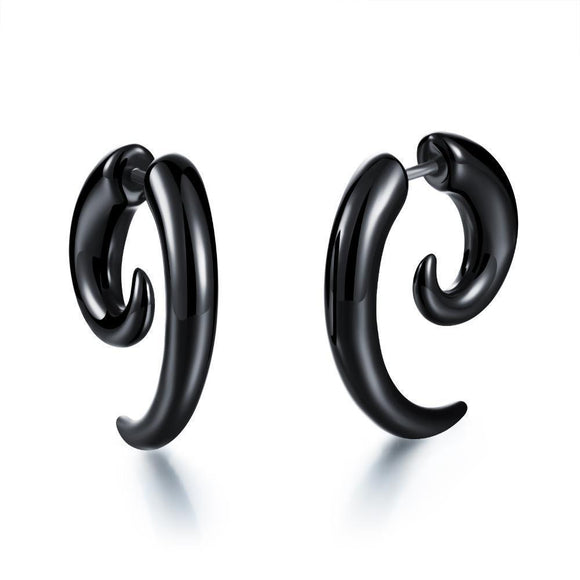 Women's Dark Twisting Alternative Earrings-4mm-