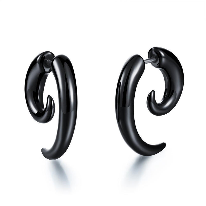 Women's Dark Twisting Alternative Earrings - The Black Ravens