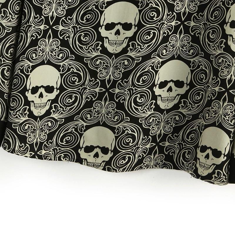 Women's Double-layer Skeleton Head Tops - The Black Ravens