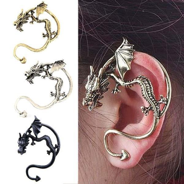 Women's Dragon-Bite Clip-On Earring - The Black Ravens