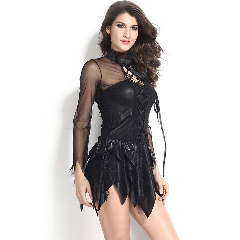 Women's Fallen Angelic Outfit - The Black Ravens