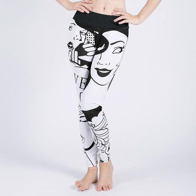 Women's Fashion Print Workout Leggings - The Black Ravens