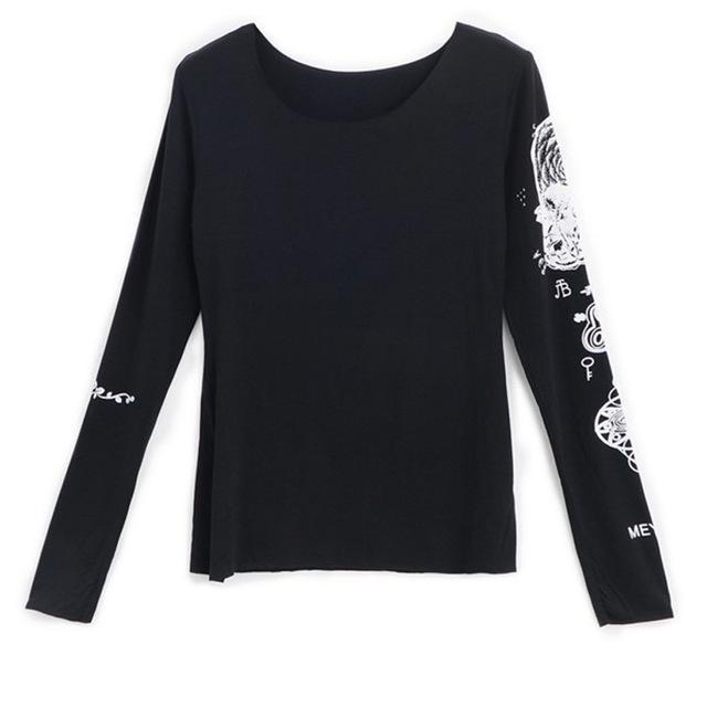 Women's Full Sleeve Casual Goth Tee-