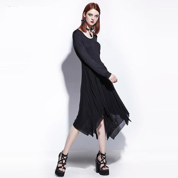 Women's Gothic Fashion Asymmetrical Gown-S-