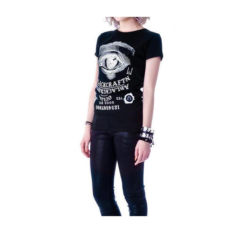 Women's Killer Ouija Board Tees-Black-XS-