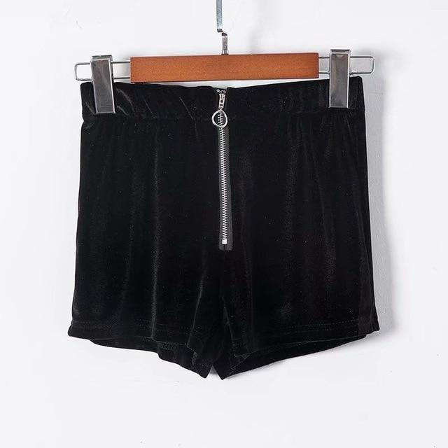 Women's Retro Velvet Shorts - The Black Ravens