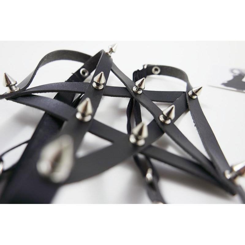 Women's Sexy Studded Pentagram Garters - The Black Ravens