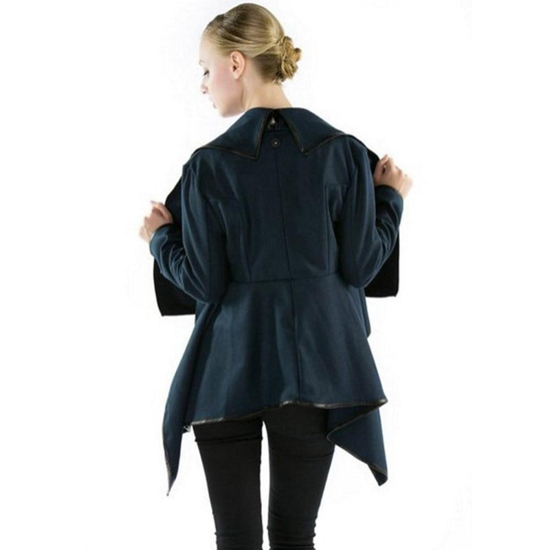 Women's Smart Slim Overcoat - The Black Ravens