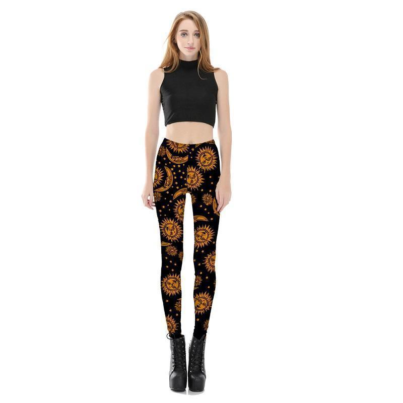 Womens Solar Sky Leggings - Plus Size Available - The Black Ravens