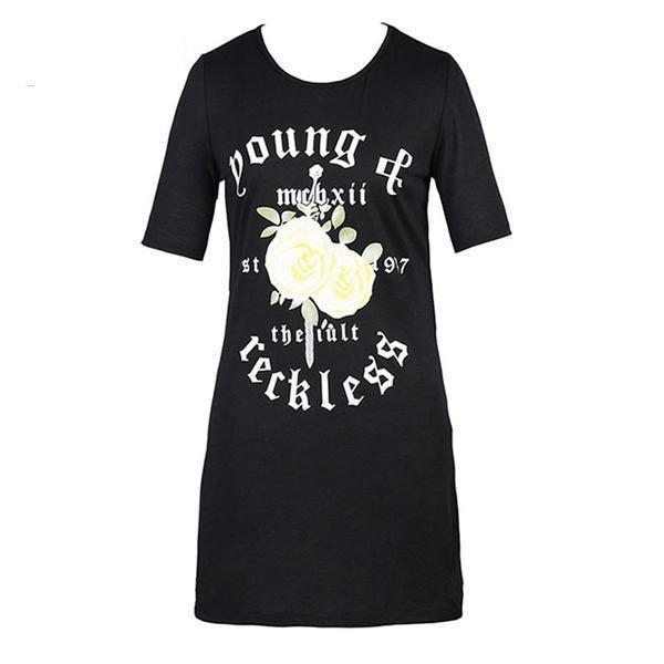 Loose Baggy Casual Rocker T-Shirt
