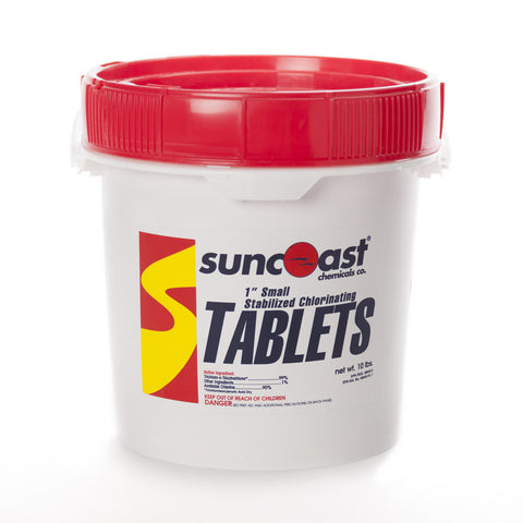"Suncoast 1"" Stabilized Chlorine Tablets, 10 Lbs."