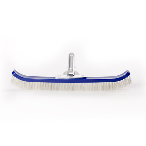 "18"" Curved Wall Brush Nylon/SS Bristles & Metal Handle"