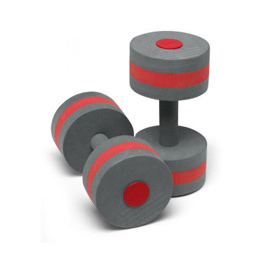 Speedo Aqua Fitness Barbells, Red/Gray