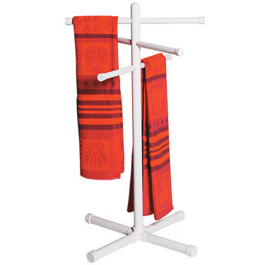 PVC Towel Rack, White