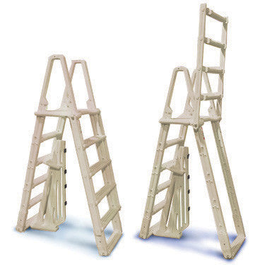 "Confer ""Evolution"" Gray A-Frame Ladder for Above Ground Pools"