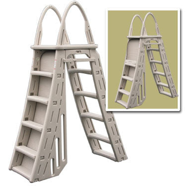 Heavy Duty A-Frame Ladder With Roll-Guard Feature