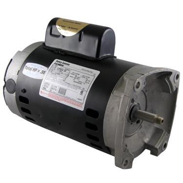 2 HP Square Flange Threaded Shaft Motor