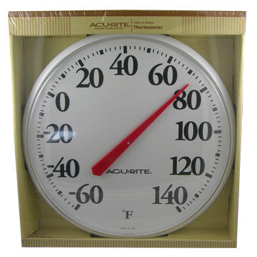 "Chaney/AcuRite 12 1/2"" Indoor/Outdoor Thermometer"