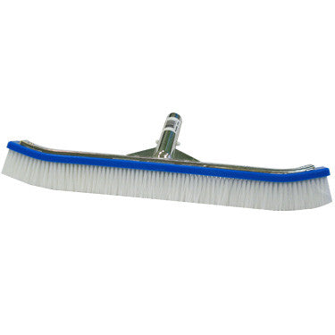 "Porpoise 18"" Curved Wall Brush, Nylon Bristles, Metal Handle"