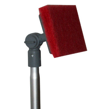 "Adjust-A-Brush Scrub Pad with 48"" Handle & Knuckle"