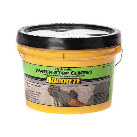 QUIKRETE Hydraulic Water-Stop Cement, 10 Lbs.