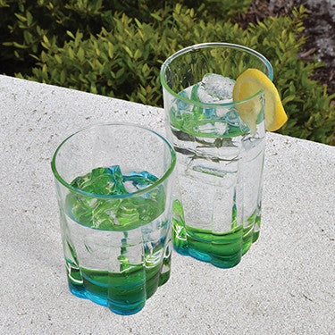 Crystal Peacock 14 Oz. Acrylic Tumbler Set of 4