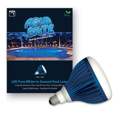 Underwater Pool Light, Aqua Brite White LED Bulb