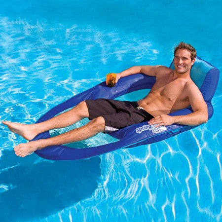 Swimways Spring Float Recliner XL, Blue
