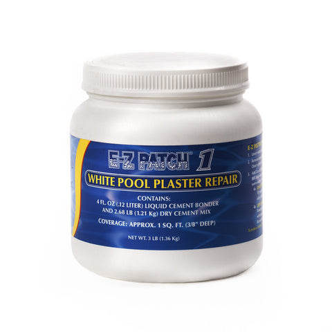 E-Z Patch 1 White Pool Plaster Repair Kit, 3 Lbs.