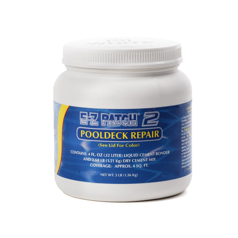 E-Z Patch 2 White Pool Deck Surface Repair Kit, 3 Lbs.