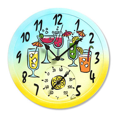 Taylor Precision Tropical Drink Clock with Thermometer